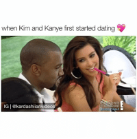 Baby Moses left Kanye hanging lmao 😂 follow me (@kardashiianvideos) for more 💕: when Kim and Kanye first started dating  IG | @kardashiianvideos  SHIANS  ASONE INALE ■ Baby Moses left Kanye hanging lmao 😂 follow me (@kardashiianvideos) for more 💕