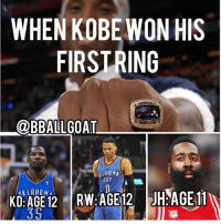 Memes, Amazing, and 🤖: WHEN KOBEWON HIS  FIRSTRING  @BBALLGOAT  LAHOMA  CITY  KLAHOMn  50 That's amazing