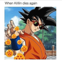 Anime, Memes, and Krillin: When Krillin dies again I don't usually post dbz stuff but this is cold 🔥💯👌 👇👇 Get Free Anime Merch👇👇 Follow @animecart Follow @animecart Follow @animecart
