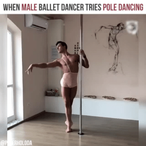 """Dancing, Gif, and Target: WHEN MALE BALLET DANCER TRIES POLE DANCING  A D lebritanyarmor: dancinggrimm:  kagero68: Suave, slow and elegant movements. I can not stop been mesmerized. Whoooa!   """" tries """" ?"""