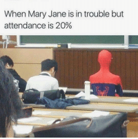Relatable, Dank Memes, and Content: When Mary Jane is in trouble but  attendance is 20% relatable content