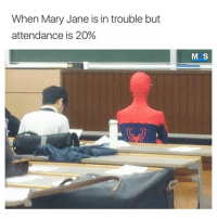 Tumblr, Blog, and Http: When Mary Jane is in trouble but  attendance is 20%  M2S studentlifeproblems:Follow us @studentlifeproblems​