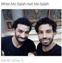 Soccer, Sports, and One: When Mo Salah met Mo Salah  8:59 AM 04 May 18 Which one is Mo Salah?! 🤔🤣