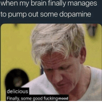 Fucking, Mood, and Brain: when my brain finally manages  to pump out some dopamine  delicious  Finally, some good fucking mood Feels Good