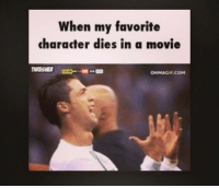 Ohmagif: When my favorite  character dies in a movie  OHMAGIF.COM