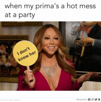 I came alone.: when my prima's a hot mess  at a party  don't  her  know @wearemiitu  photocredit 9gag/Instagram I came alone.