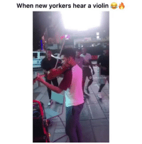 Funny, Tattoo, and Violin: When new yorkers hear a violin  neelife Which tattoo is your favorite?