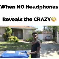 Crazy, Memes, and Awkward: When No Headphones  Reveals the CRAZY When NO Headphones Reveals the CRAZY😳LoL TAG someone if you've seen this B4! @hollywoodkp wierd awkward crazy strange xfiles juhahnjones