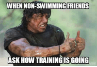 Friends, Memes, and Swimming: WHEN NON-SWIMMING FRIENDS  ASK HOW TRAININGIS GOING 30 Swimming Memes That Perfectly Describe Swimmers (Updated)