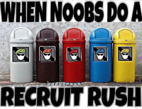 Bad, Cute, and Fashion: WHEN NOOBSDOA  RECRUIT RUSH Trueeeeee Tag your squad .... @dayskull_ @dafaqpepe @lucassigman @aukeni_holm @gustavacado @its.ninjay @angelldiazz . 🔥Like and comment for good luck ignore for bad luck🔥 😸Tag a friend for a cookie!!😸 〰〰〰〰〰〰〰〰〰〰〰〰〰〰〰〰〰〰 ❤️Double tap for more❤️ 💎Use Ninjay if you're a real fan💎 😸Pls like-comment-share-repost😸 🚫Negativity and promoting = block🚫 〰〰〰〰〰〰〰〰〰〰〰〰〰〰〰〰〰〰 ❌Ignore tags❌ Like4like Like4follow Doubletap Like Follow Love Cute Happy Fun Me Reposts Lit Fashion Ps4 Xbox Memes Lmfao Rainbowsixsiege Comedy Callofduty Gamingmemes Gaming Codmemes Funny Funnymemes Stupid