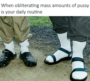 Funny, Jesus, and Memes: When obliterating mass amounts of pussy  is your daily routine  MemeCenter.com Jesus Sandals Memes. Best Collection of Funny Jesus Sandals Pictures