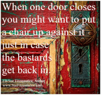 Get my book 'Purpose' http://amzn.to/2a1yjDA Free e-book: www.suefitzmaurice.com/free-e-book Online course www.suefitzmaurice.com/purpose: When one door closes  you might want to put  chair up ag  the bastard  get back in  t  e Fitzmaurice Autho  H  maurice Get my book 'Purpose' http://amzn.to/2a1yjDA Free e-book: www.suefitzmaurice.com/free-e-book Online course www.suefitzmaurice.com/purpose