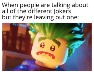 Lego Joker: When people are talking about  all of the different Jokers  but they're leaving out one: Lego Joker