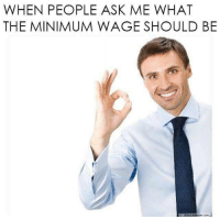 Memes, Minimum Wage, and Anarchyball: WHEN PEOPLE ASK ME WHAT  THE MINIMUM WAGE SHOULD BE via Anarchyball