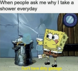 Dank, Memes, and Shower: When people ask me why I take a  shower everydav  Car't have  ga me irl by VidarrBoud MORE MEMES