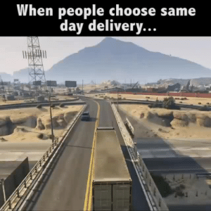 Facebook, Omg, and Tumblr: When people choose same  day delivery. monkeysaysficus: rhysiare:   ive-been-mistreated:  I HAVE NO WORDS (ALSO this seems to be the op, on youtube)  Omfg the way the truck fucked up, fucked up perfectly   I am in tears omg