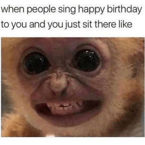 Birthday, Memes, and Happy Birthday: when people sing happy birthday  to you and you just sit there like Cinco de Mayo Memes