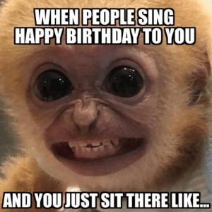 """Better Than Saying """"Happy Birthday to You Too!"""" - Memebase - Funny Memes: WHEN PEOPLE SING  HAPPY BIRTHDAY TO YOU  AND YOUJUST SIT THERE LIKE Better Than Saying """"Happy Birthday to You Too!"""" - Memebase - Funny Memes"""