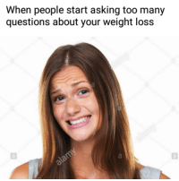 Memes, Tumblr, and Blog: When people start asking too many questions about your weight loss <p><a href=