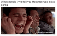 Dont feed me that  BS: When people try to tell you Harambe was just a  gorilla  @mrtechnicaldifficult Dont feed me that  BS