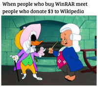 Wikipedia, Winrar, and Who: When people who buy WinRAR meet  people who donate $3 to Wikipedia
