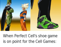 """<p>Perfect Cell Shoes via /r/memes <a href=""""http://ift.tt/2pjYr3O"""">http://ift.tt/2pjYr3O</a></p>: When Perfect Cell's shoe game  is on point for the Cell Games: <p>Perfect Cell Shoes via /r/memes <a href=""""http://ift.tt/2pjYr3O"""">http://ift.tt/2pjYr3O</a></p>"""