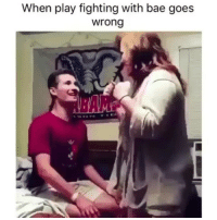 Bae, Memes, and 🤖: When play fighting with bae goes  wrong