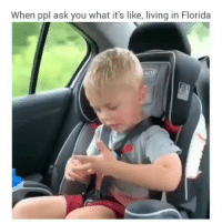Funny, Omg, and Florida: When ppl ask you what it's like, living in Florida Omg this heat and humidity is killing me @realjuliagulia 😭😭😓 soundon🔊