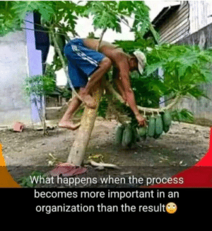 When process is more important than the result: When process is more important than the result