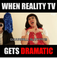 Memes, Link, and Reality: WHEN REALITY TV  GU  UURRRLLL SLA  YYYYY!!!  GETS DRAMATIC Who's hot and who's not?! Sue Ann and Ke Yi battle it out to see which one of them will be the LAST MODEL STANDING! 😱😱WHO WILL WIN?! Or.. think both CMI and you're better? 🤔 Take up the challenge at <link in bio>
