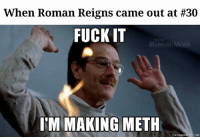 All you can do...  [CBK]: When Roman Reigns came out at #30  FUCK IT  AINEVENT  IM MAKING METH  memegenerator net All you can do...  [CBK]