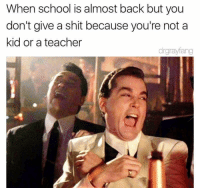 Memes, Mood, and School: When school is almost back but you  don't give a shit because you're not a  kid or a teacher  drgrayfang 45 Great Pics and Memes to Improve Your Mood