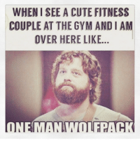 Cute, Gym, and Fitness: WHEN SEE A CUTE FITNESS  COUPLE AT THE GYM AND IAM  OVER HERE LIKE  ONE MANIMTITE ACK Where's my swolemate? 😩 @officialdoyoueven