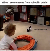 Funny, School, and Vine: When see someone from school in public  Hoodclips.com Boy, BYE!!! By:The Funny Vine