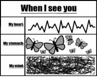 When I see you...: When see you  My heart:  My stomach:  My mind: When I see you...