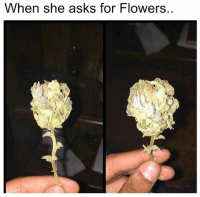 Click, Memes, and Flowers: When she asks for Flowers. LAST CHANCE! Tommy Chong wants you to get high. Click here to enter to win the Genius Pipe: https://goo.gl/RYRyw7