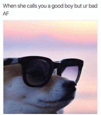 Memes, 🤖, and Afs: When she calls you a good boy but ur bad  AF