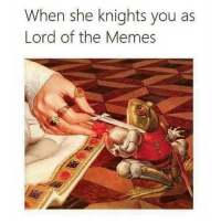 FEELS FUCKING GOOD MAN.: When she knights you as  Lord of the Memes FEELS FUCKING GOOD MAN.