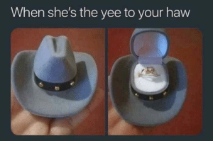 Cute, Tumblr, and Yee: When she's the yee to your haw awesomacious:  Quirky but cute