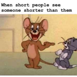 MeIRL, Them, and Short People: when short people see  someone shorter than them meirl