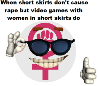 Rape, Anarchyball, and Video Game: when short skirts don't cause  rape but video games with  women in short skirts do Svetoslav Svetlozarov