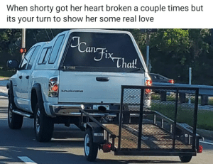 Love, Heart, and Got: When shorty got her heart broken a couple times but  its your turn to show her some real love  Fix-  That!  DODGO I can fix that