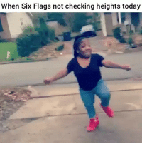 Funny, It's Lit, and Lit: When Six Flags not checking heights today Lmao ayee its lit 😂😂