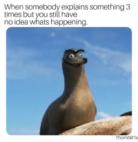 Tumblr, Blog, and Http: When somebody explains something 3  times but you still have  no idea whats happening.  Thom581k awesomesthesia:  I'm not deaf, in just…