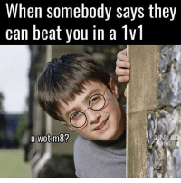 Friends, Funny, and Memes: When somebody says they  can beat you in a 1v1  u Wot m8? You wot mate 😂 SWIPE LEFT!!! Follow 🙉 @monkeynapkin 👀 💥Tag Your Friends💥 🌟YouTube: Monkey Napkin🌟 🔥Subscribe🔥 👍 cod codmeme codmemes callofduty callofdutymeme callofdutymemes funnymeme game overwatch R6S rainbow6siege modernwarfareremastered mwr gaming gamingmemes gamer battlefield battlefield1 gta gtav gta5 gtavonline bo2 bo3 monkeynapkin funnymemes funny happy dankmeme csgo
