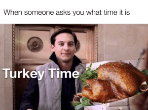 Have a good break everyone: When someone asks you what time it is  Turkey Time Have a good break everyone