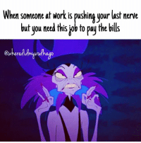 Fml, Work, and Girl Memes: When someone at Work is pushing your last nerve  but you need this job to pay the bills Lord give me strength workflow worklife mondaymood moodaf fml murder wdmvg