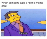 Normie: When someone calls a normie meme  dank  Pathetic