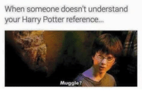 ~Dobby: When someone doesn't understand  your Harry Potter reference...  Muggle? ~Dobby