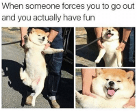 Funny, Personal, and Fun: When someone forces you to go out  and you actually have fun My personal ig @iamnochilll